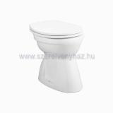 Alföldi Bázis WC-csésze 4037 alsó kifolyású, laposöblítésû, rövid, régitípusú