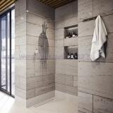 Ferro algeo square zuhanyrendszer fej és kézi zuhannyal csapteleppel